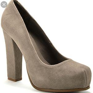 Steve Madden gray suede block heel